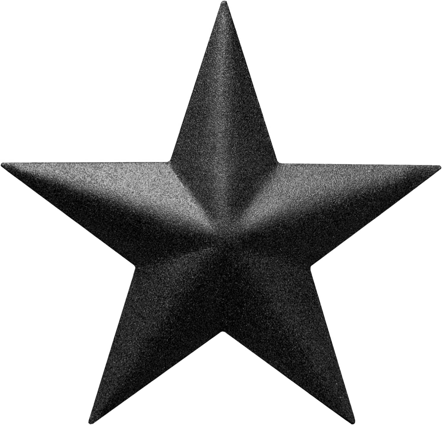 """EcoRise Black Barn Star – Star Wall Décor, Metal Stars for Outside or Inside of House, Iron Texas Metal Star Rustic Vintage Western Country Home Farmhouse Wall Art Decorations (5"""")"""