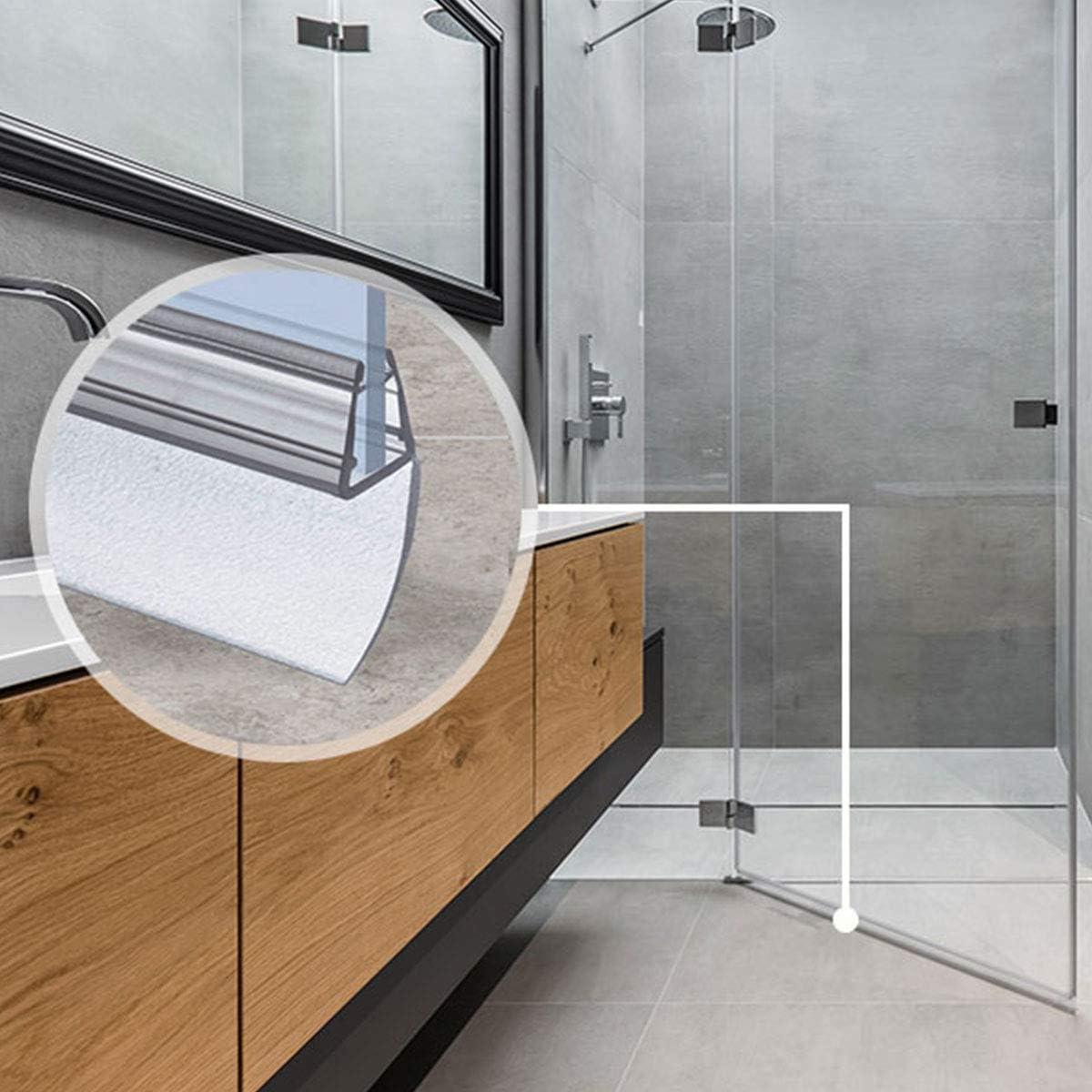 STEIGNER 50cm Joint de douche arrondi courb/é pour les vitres d/'une /épaisseur 3,5 mm// 4 mm// 5 mm UK04