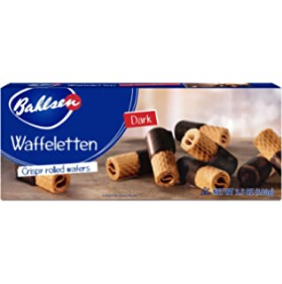 Bahlsen Waffeletten - Delicate Wafer Rolls dipped in European Chocolate - 3.5 oz boxes (Dark