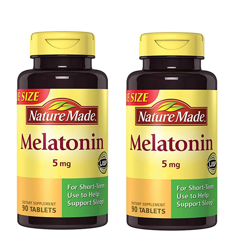 Maximum Strength Melatonin 5 mg Tablets 90 Ct (2 Pack) sleeping pills or otc sleep aids Sleeping pills or OTC sleep aids – risks and side effects 71u1ikZMEyL