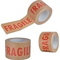 """Tape van milieuvriendelijk papier, met opschrift """"Fragile"""", 50 mm x 50 m, voor verpakking, Scotch Kraft, Scocht, 1 rol"""