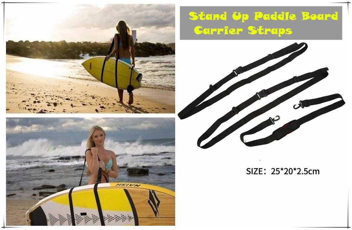Stand Up Surfboard Straps - Surfboard/Paddleboard Carrier Shoulder Carry Strap Easy Carry Storage Strap Shoulder Sling - Longboard Carry Strap Adjustable Board Strap by Vbestlife (Image #6)