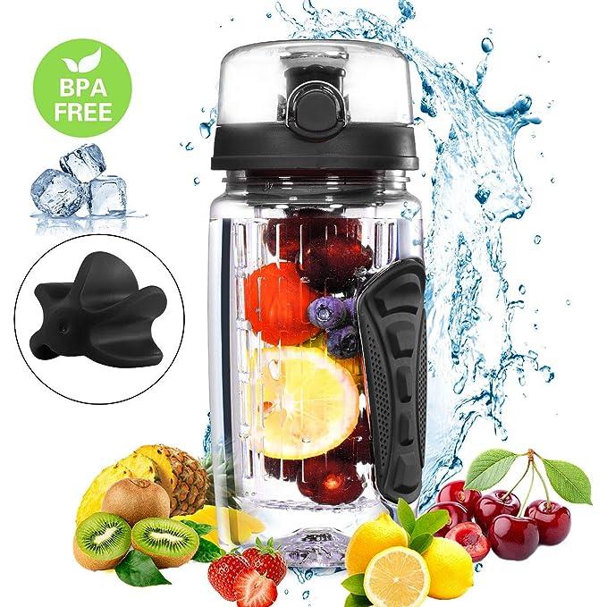 150 opinioni per OMORC Bottiglia Shaker Proteine 750ML 2-in-1, Borraccia Infusore Detox BPA Free,