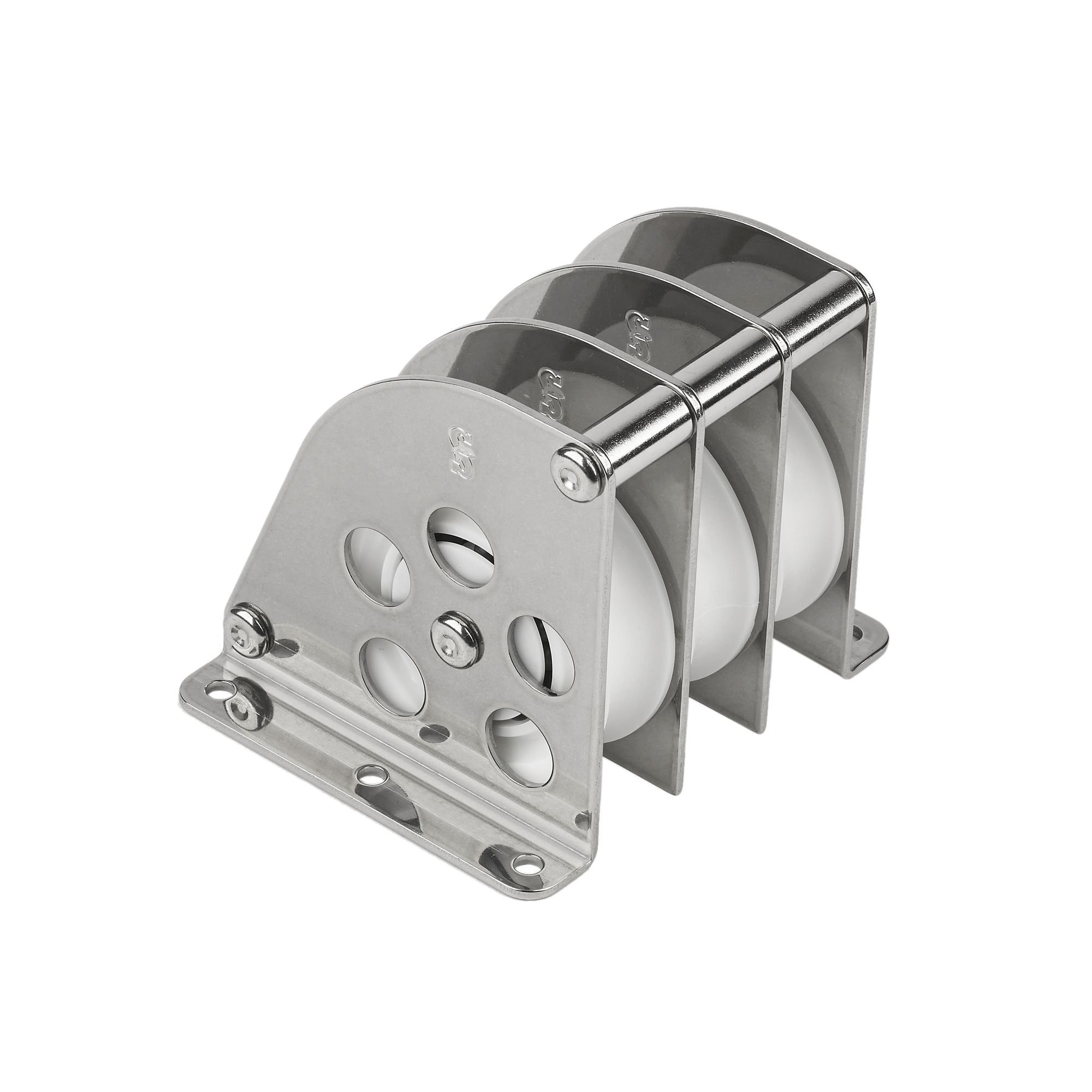 Schaefer 7 Series Triple Over-The-Top Block, Stainless Cage and Delrin Ball Bearing Sheave