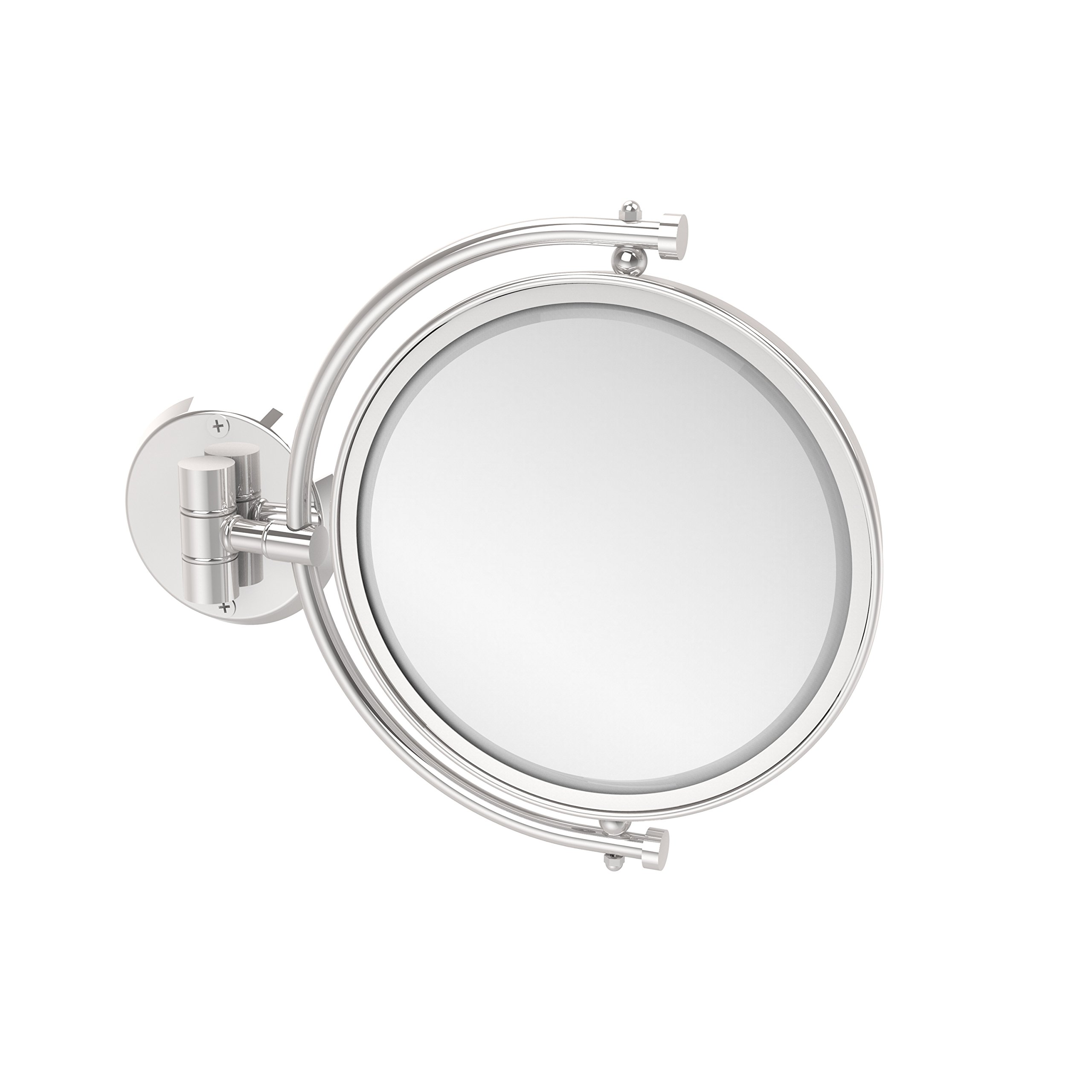 Allied Brass WM-4/5X-PC 8-Inch Mirror with 5x Magnification Extends 7-Inch, Polished Chrome
