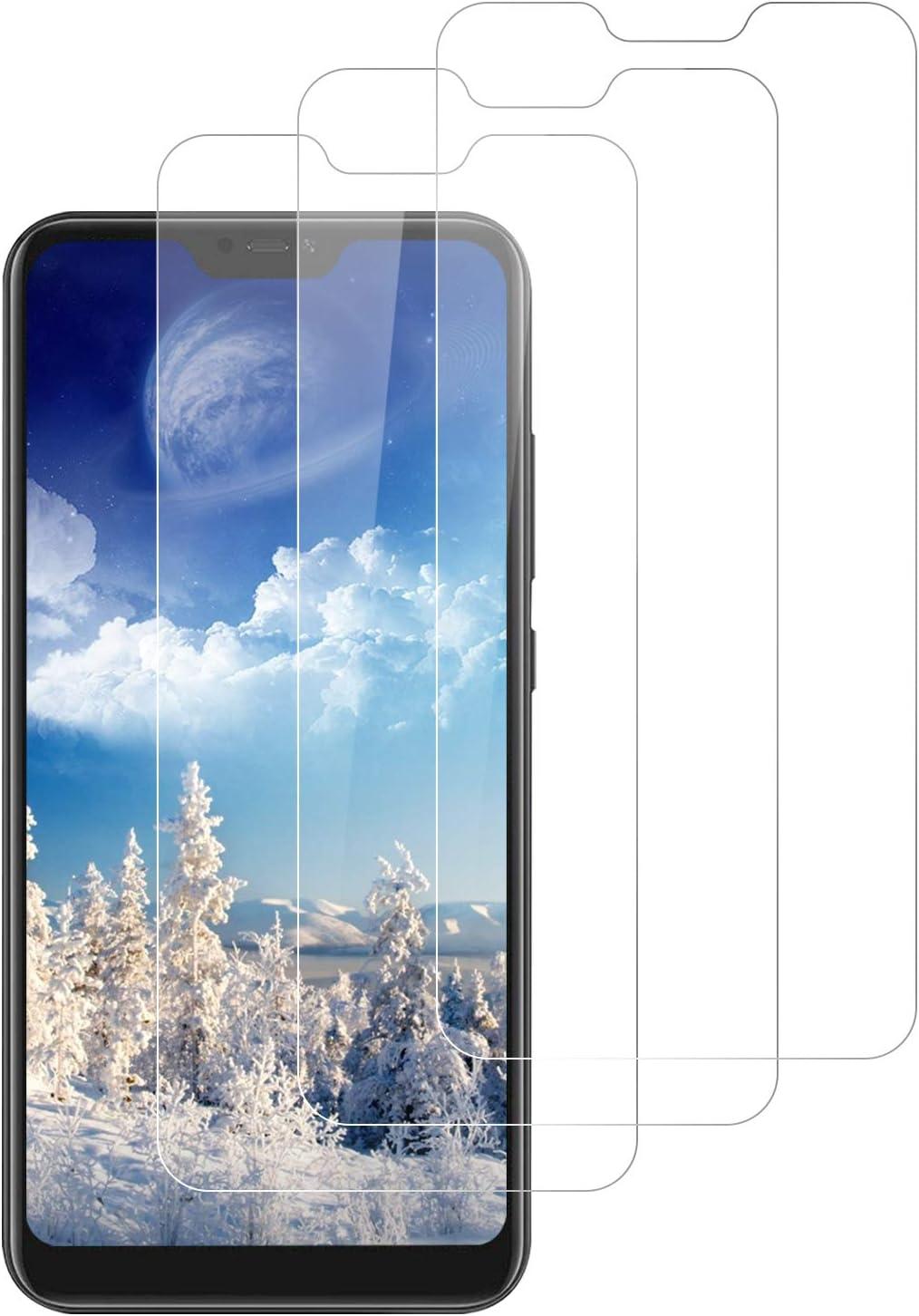 DOSNTO 3-Unidades Protector de Pantalla para Xiaomi Mi A2 Lite, Cristal Vidrio Templado Premium Xiaomi Mi A2 Lite [Alta Definicion][Sin Burbujas] [Dureza 9H] [Anti-Arañazos][Kit Fácil de Instalar]