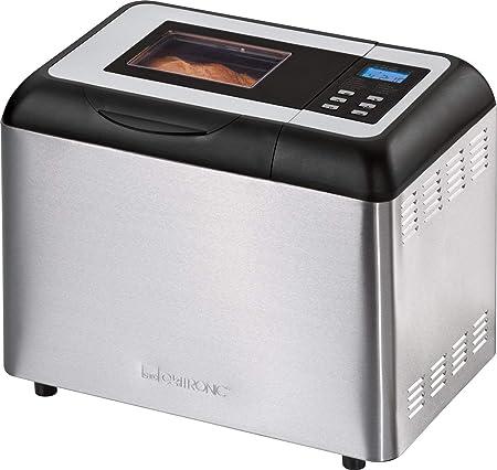 Clatronic BBA 3365 Panificadora programable, capacidad 1 kg, 11 programas cocción, 34 posibilidades, 700 W, Negro, Acero inoxidable
