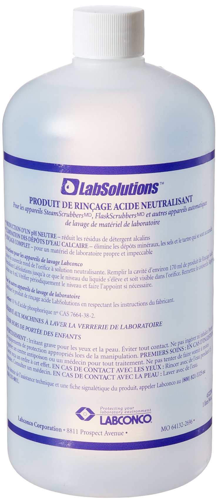 Labconco 4522200 LabSolutions Neutralizing Acid Rinse, 2.7 lbs Volume