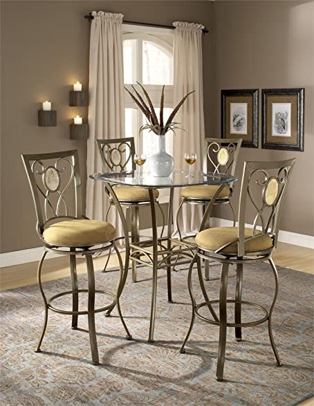 Hillsdale Brookside Bar Height Bistro Table   4815PTB