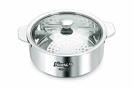 NanoNine Stainless Steel Innovative Kitchenware Roti Saver, 2.35 Litres