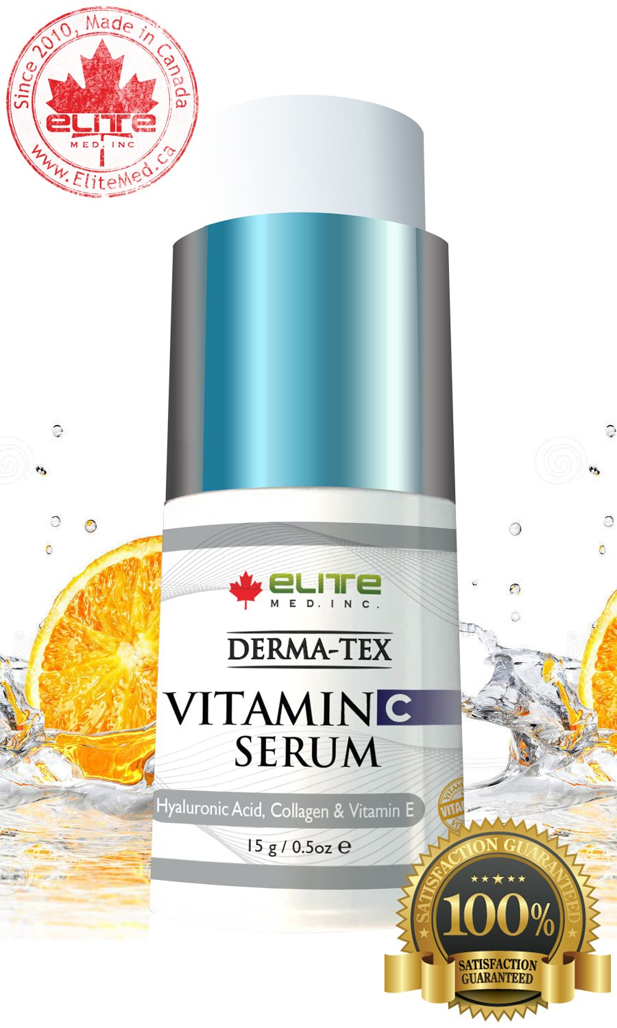 Vitamin C Serum Hyaluronic acid Collagen & Vit E skin care - Derma-Tex C Plus 15g