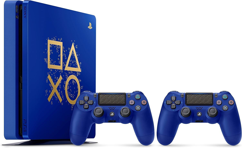 Sony PlayStation 4 500GB Console - Limited Edition Blue Days of Play [Importación inglesa]: Amazon.es: Videojuegos