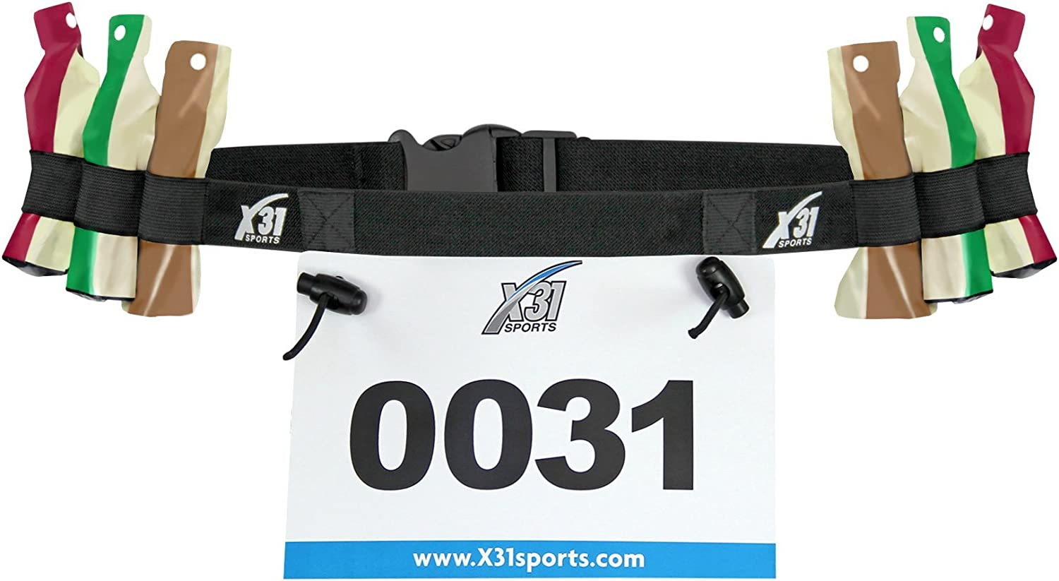 Ltd Triathlon Running Bib Holder with 6 Fuel Gel Loops for Transitions by X31 Sports Shenzhen HongFang Textile Straps/&Belts Co Race Number Belt