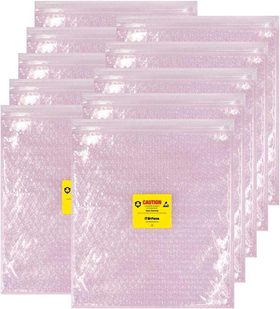 Pink 20 x 20 Pack of 100 20 Length Ship Now Supply SNBOB2020AS Anti-Static Bubble Pouches Width
