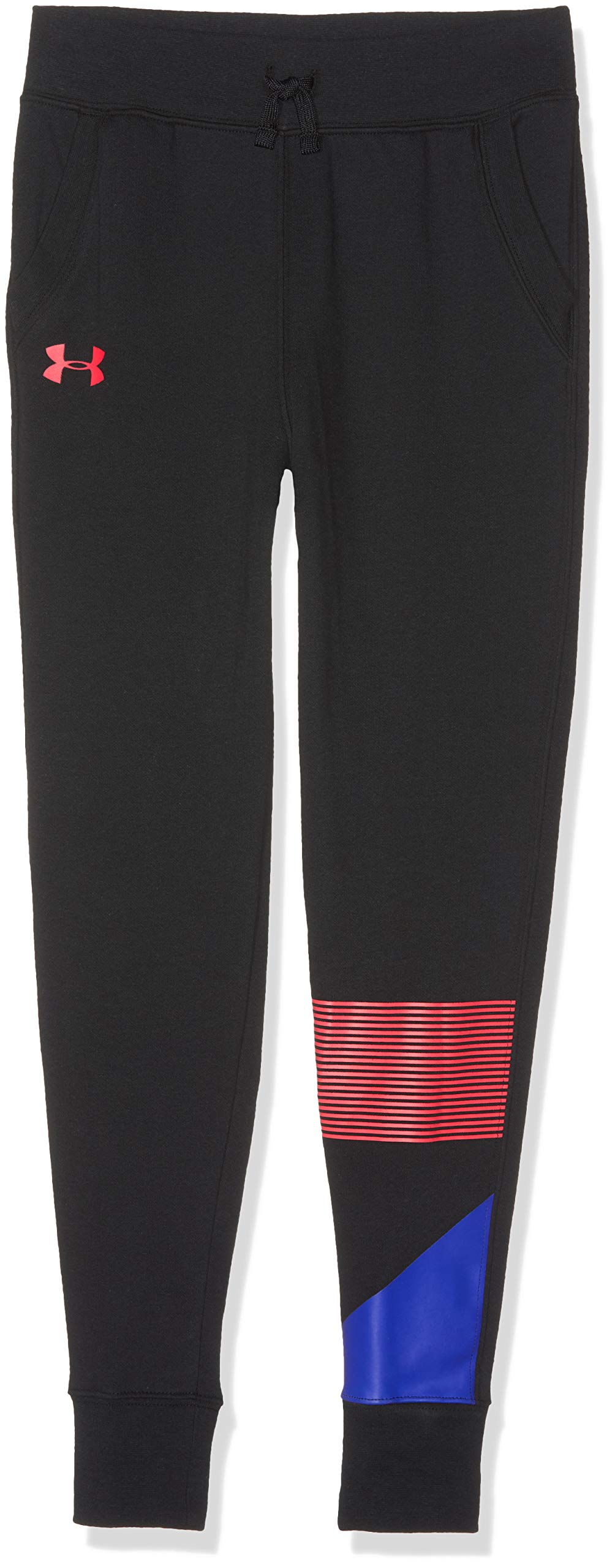 Under Armour Girls Rival Jogger, Black (002)/Penta Pink, Youth Large by Under Armour