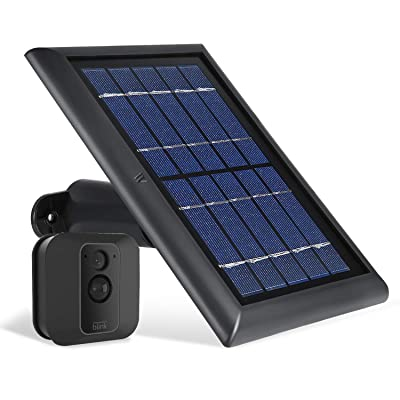 Wasserstein Solar Panel with Internal Battery Compatible with Blink XT and Blink XT2 Outdoor Camera (Black) : Camera & Photo