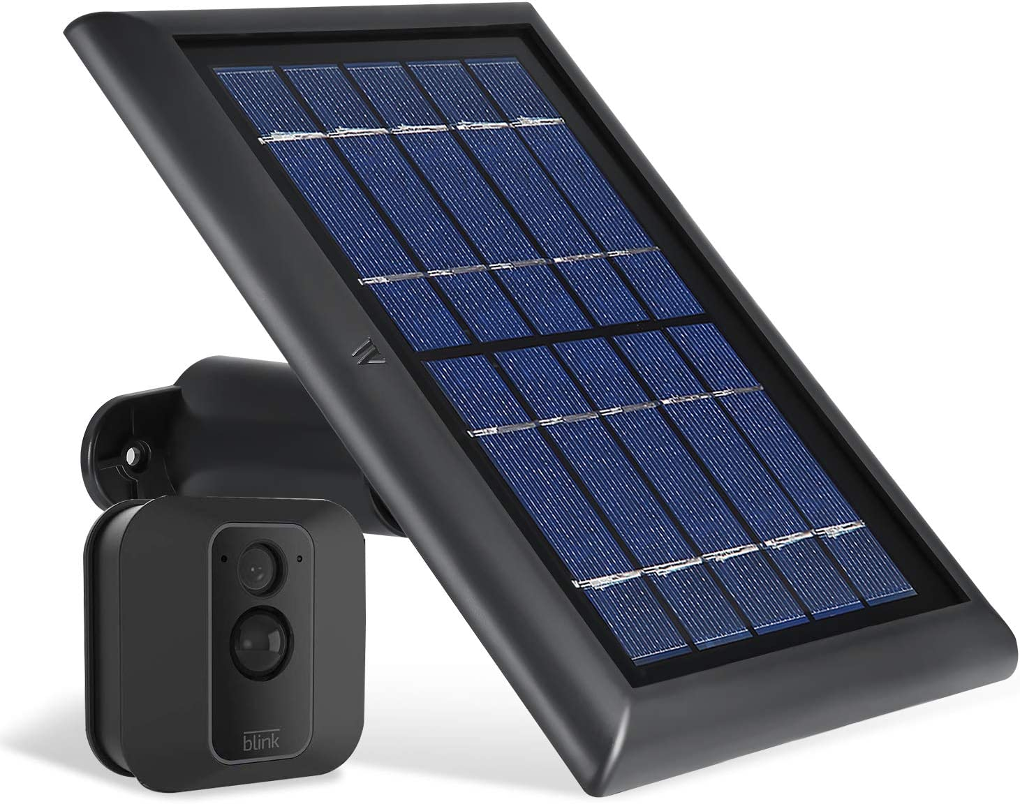 Wasserstein Solar Panel with Internal Battery Compatible with Blink XT and Blink XT2 Outdoor Camera Black