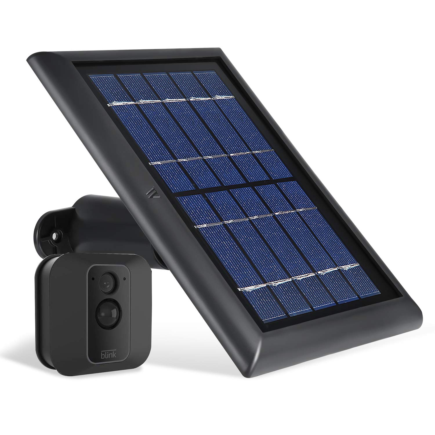 Wasserstein Solar Panel with Internal Battery Compatible with Blink XT and Blink XT2 Outdoor Camera (Black) by Wasserstein