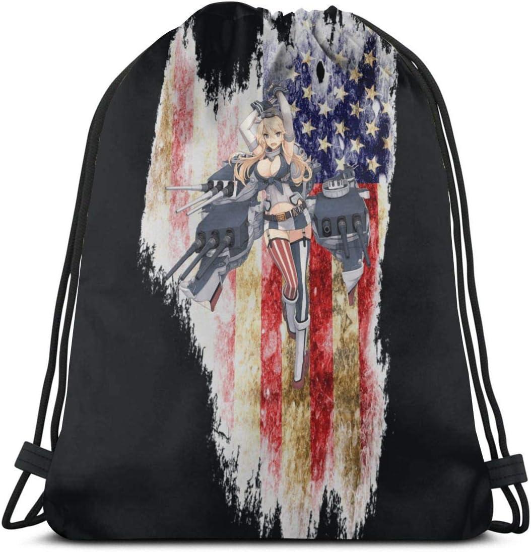 Anime & Kancolle - Iowa Classic Drawstring Bag Sports Fitness Bag Travel Bag Gift Bag
