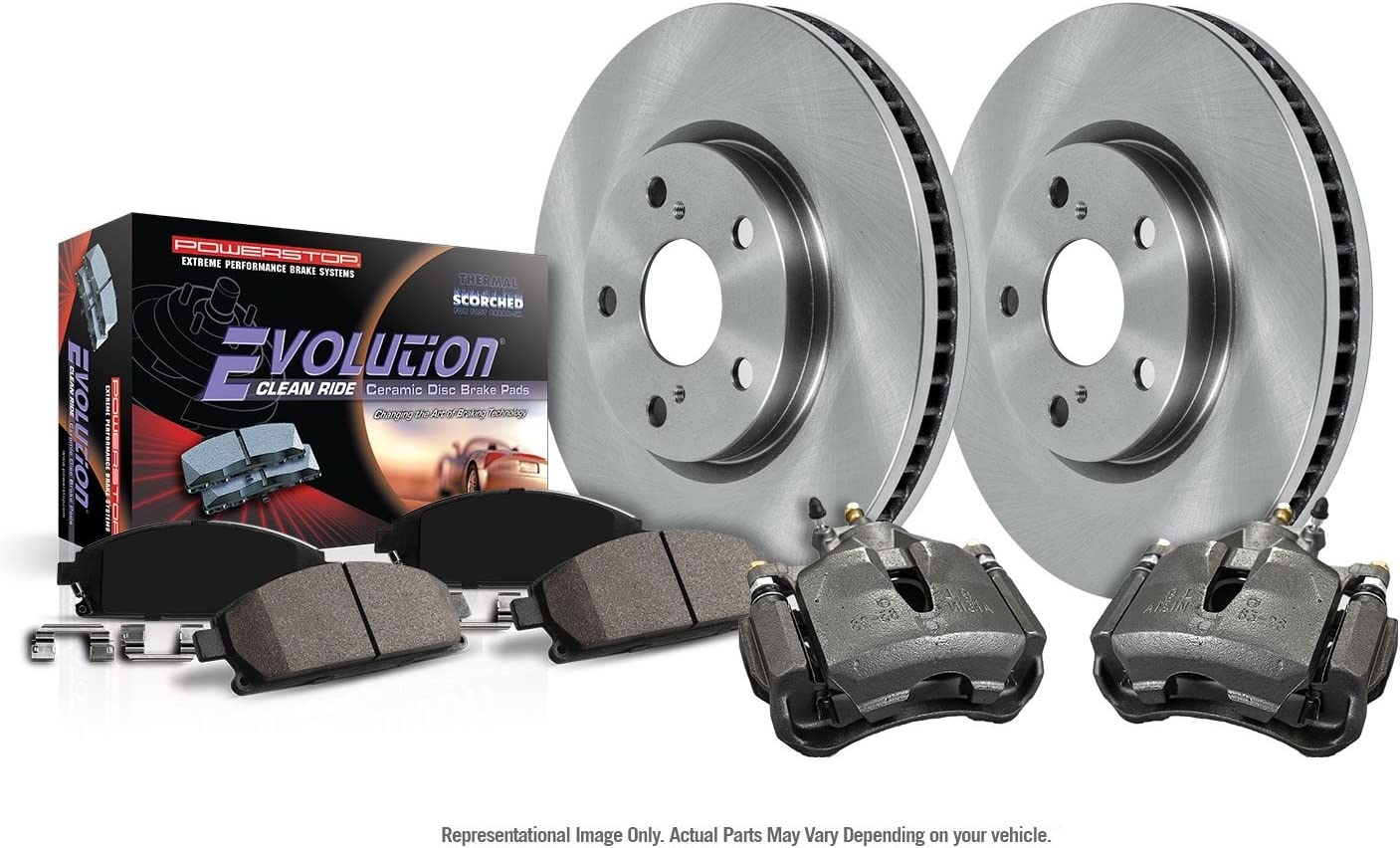 Power Stop KCOE5969 Front Stock Replacement Brake Kit with OE Calipers