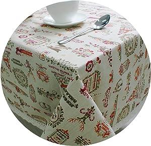 Moon Home textile Linen Cotton Rectangle Christmas Tablecloth for Table Decor Reindeer Lace Microwave Oven Cover Toalha De Mesa Xmas Decor,Reindeer,140160cm
