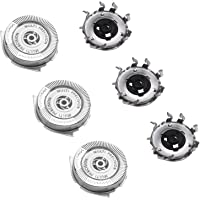 3X Replacement Shaver Head Compatible with Philips Series 5000 Shaver SH50 HQ8 Steel