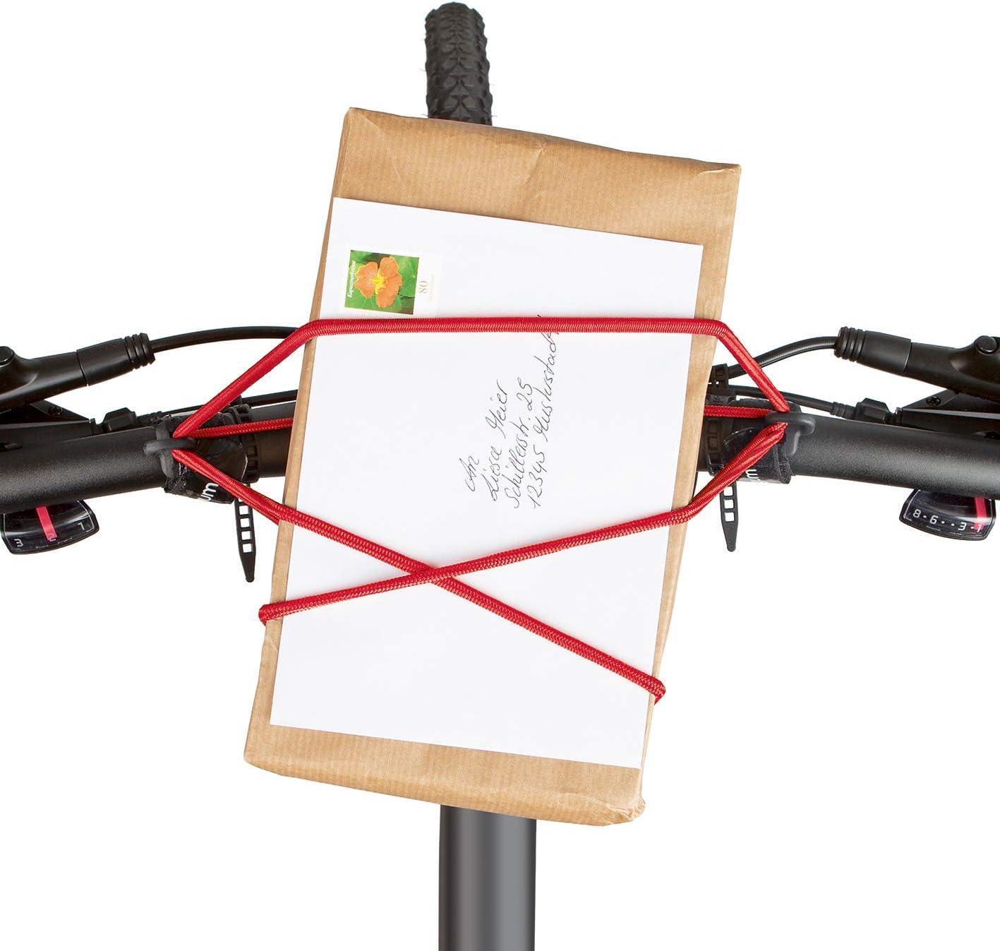 Elastisches Gummiband Gep/äckspanner carryyygum Lenkerspannband 105cm Klettverschluss Mini-Gep/äcktr/äger f Fahrradlenker Spanngummi