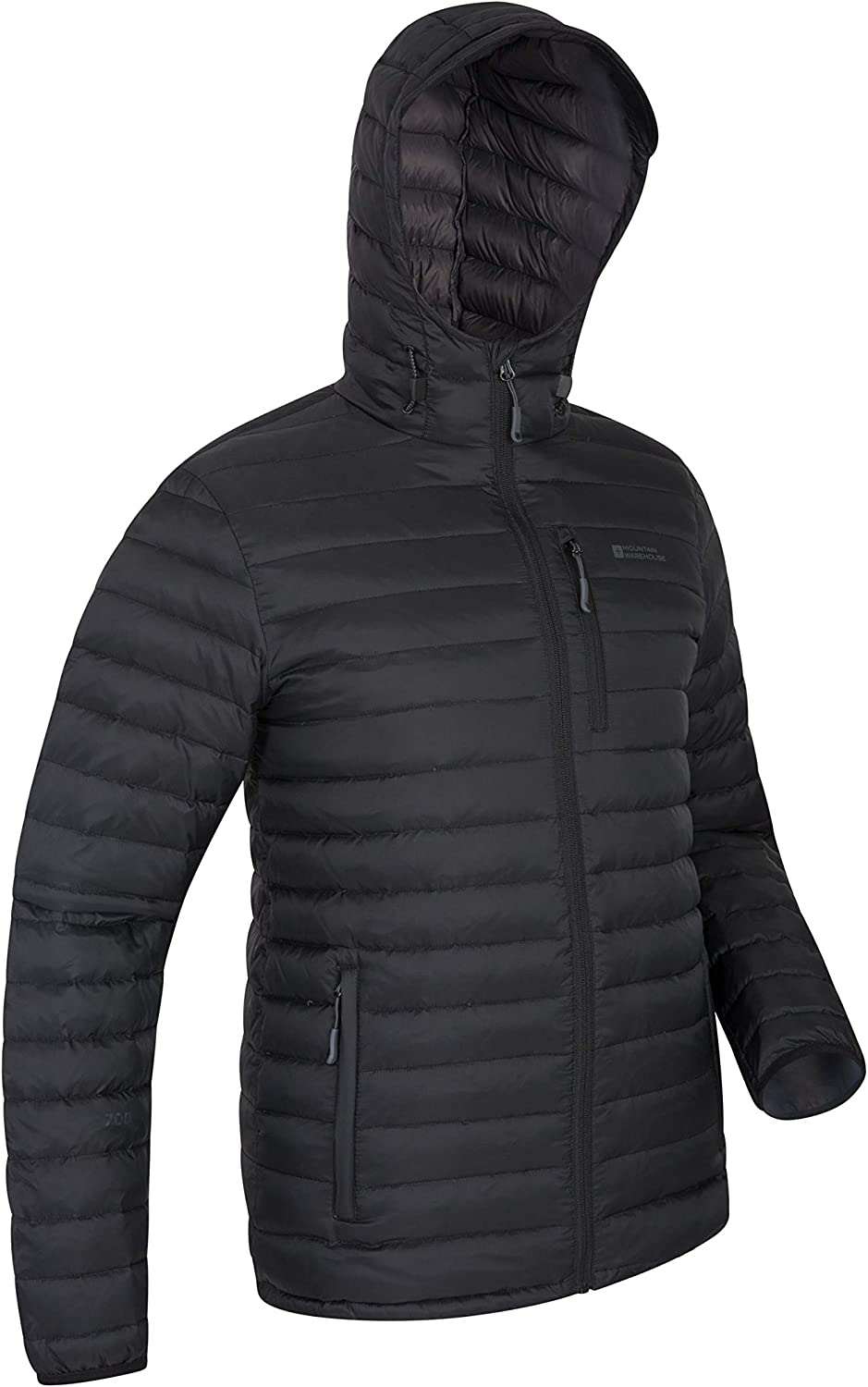 MENS WATERPROOF QUILTED JACKET COAT WINDPROOF HOOD WARM LINING S-3XL REDUCED