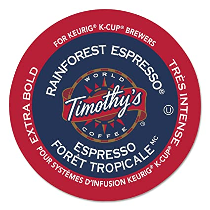 Timothy del mundo Café Rainforest Café Expreso, 24 ct K-Cups ...