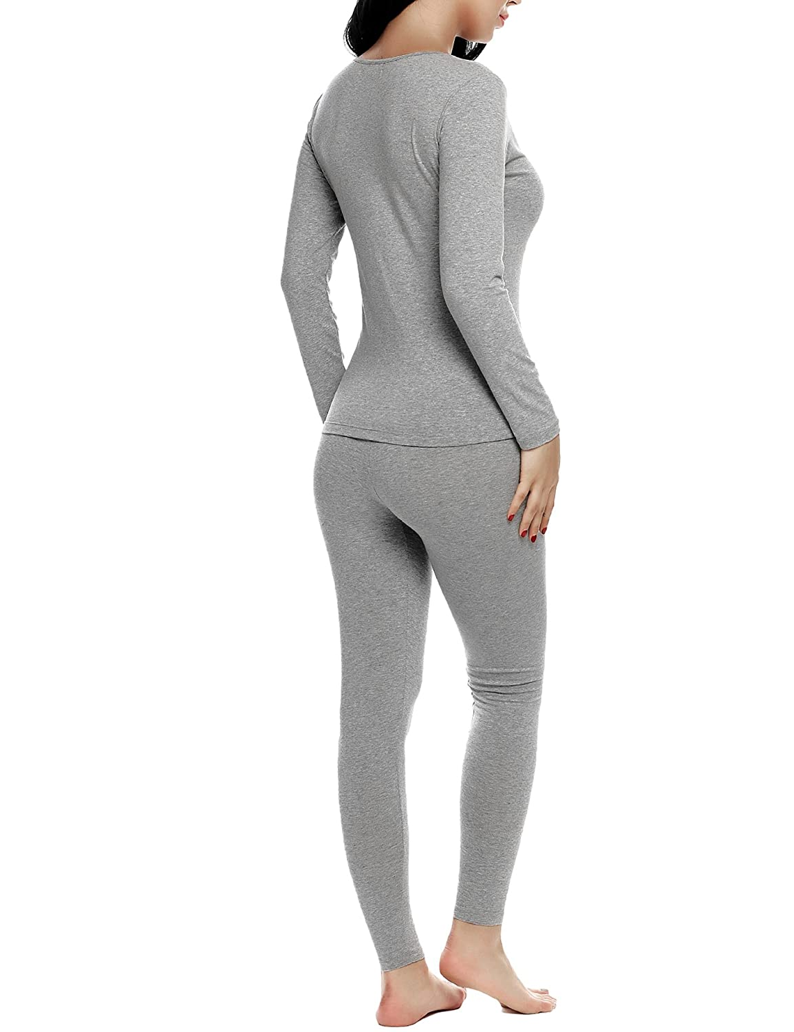 61a3b76d032c Hufcor Women 2 Piece Fleece Lined Long John Thermal Underwear Set S-XXXL at  Amazon Women's Clothing store: