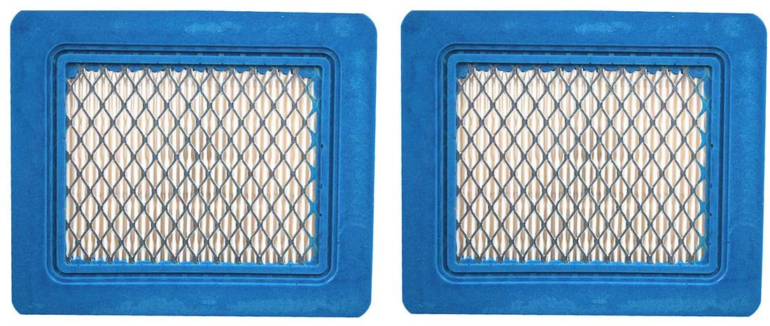 2 Pack 491588S Flat Air Filter Cartridge for Briggs & Stratton 491588 399959 4942245 4915885 3.5-6.5 HP Quantum Engines Push Mower Lawn Mower Air Filter