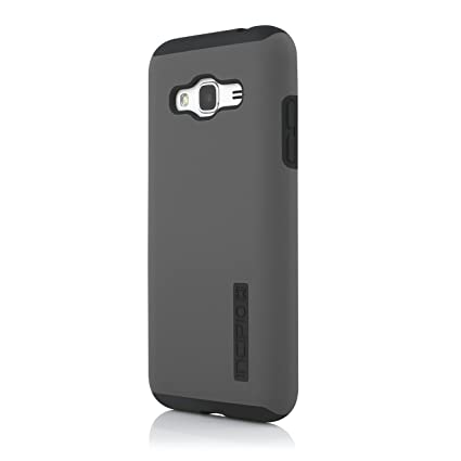 Incipio Cell Phone Case for Samsung Galaxy J3 - Retail Packaging - Gray/Black