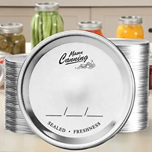168 Count, [ REGULAR ] Mouth Canning Lids for Mason Jars - Split-Type Metal Lid for BALL KERR Jar - Airtight Sealed - Food Grade Material