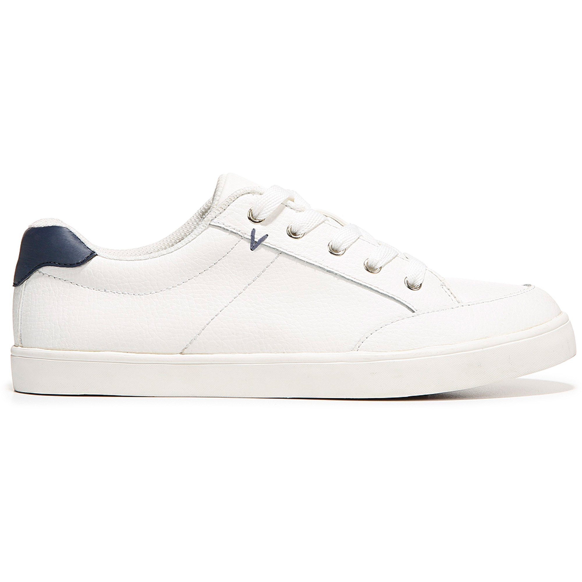 Dr. Scholl's Women's Lyric White Leather Memory Foam Sneaker (8 B(M) US)