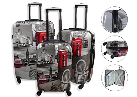 Juego de maletas ligeras de 4 ruedas con carcasa rígida de ...
