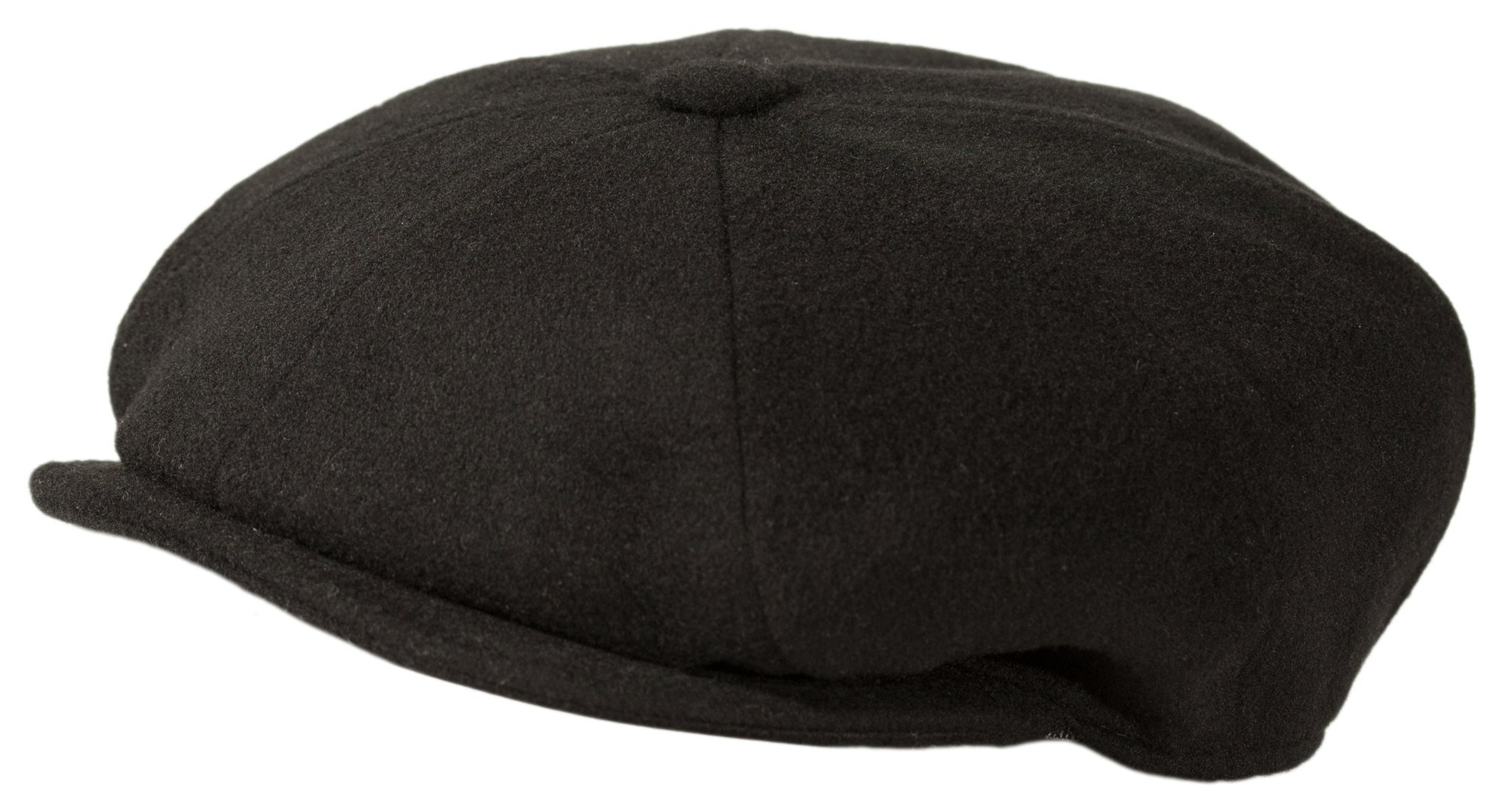 Levine Hat Cashmere 'Classico' 8-Panel newsboy Cap (XXLarge (Fits 7 3/4 To 7 7/8), Black)