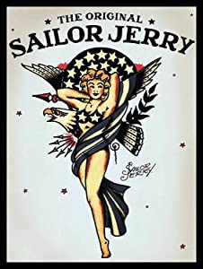 SIGNCHAT The Original Sailor Jerry, Plaque Retro Art Printed Metal Sign Vintage Sign Tin Metal Sign 8X12 Inches