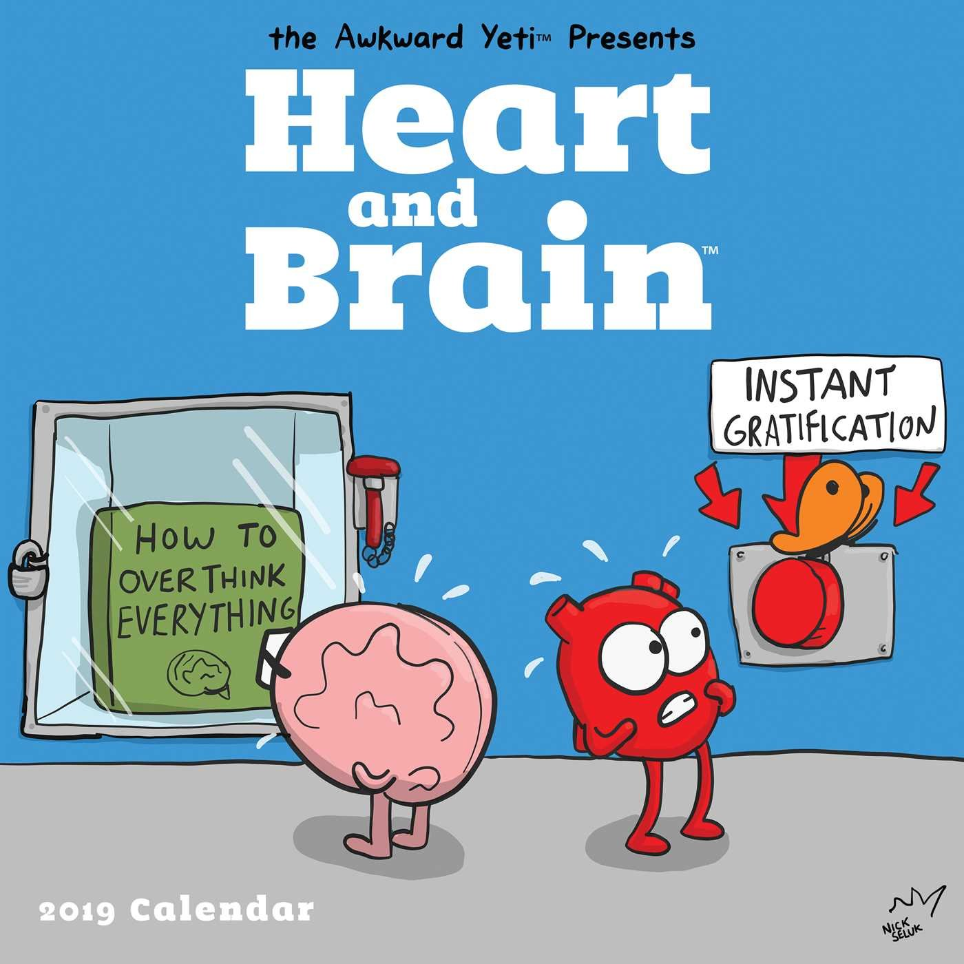 Heart and Brain 2019 Wall Calendar by Andrews McMeel Publishing