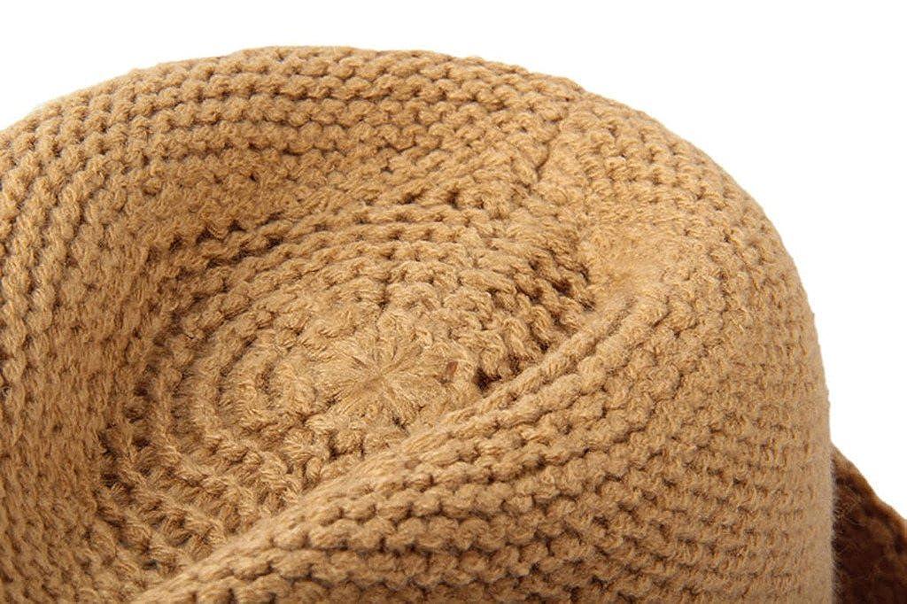 Dantiya Womens Wool Knitted Winter Warm Fedora Cap Jazz Hat