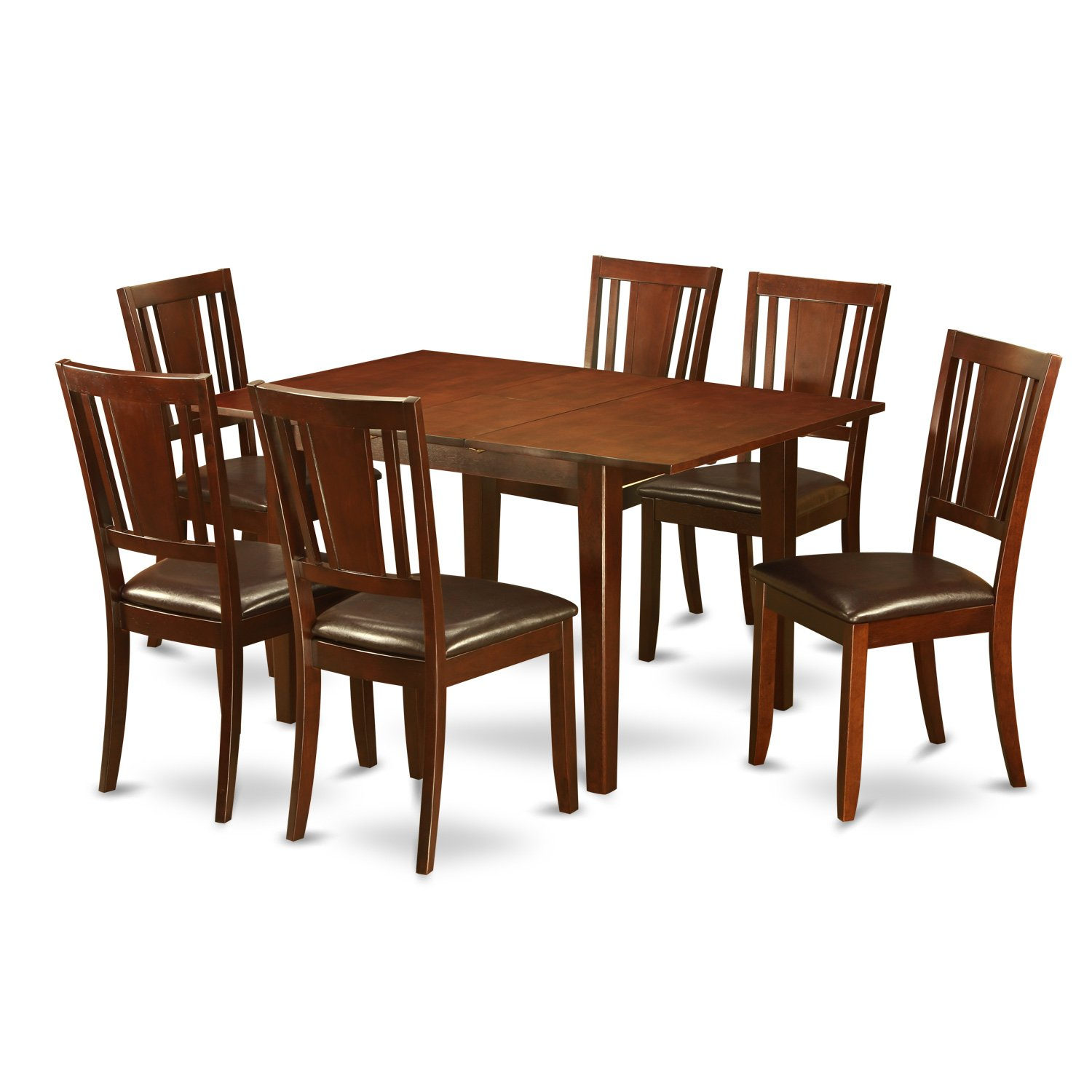 PSDU7-MAH-LC 7 Pc small Kitchen Table set – dinette Table with 6 Dining Chairs