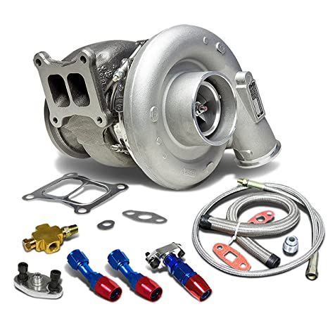 hx55 Dodge ISM/L10/M11 T4 twinscroll Diesel Turbocompresor + aceite alimentación + línea