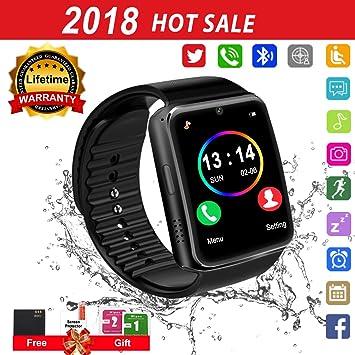 Reloj Inteligente, Smartwatch con SIM/TF Ranura Cámara Reproductor de Música Fitness Tracker Facebook Whatsapp Pantalla Táctil Smart Watch Bluetooth ...