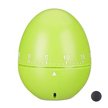 Schwarz mechanisch Relaxdays Eieruhr Kurzzeitmesser 1 h Zeitintervall