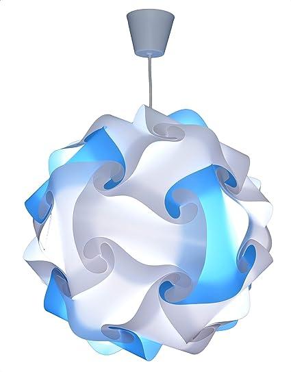 Suspension Luminaire Lustre Chambre Pr/êt /à /Être Branch/é CREATIV LAMP Abat-Jour /à Suspendre au Plafond| Chambre Enfants Ado Adultes Mix Violet Pour D/écoration Salon /Ø44 cm