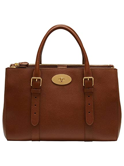 09228dfb4d89 Mulberry Bayswater Leather Large Double Zip Tote Bag