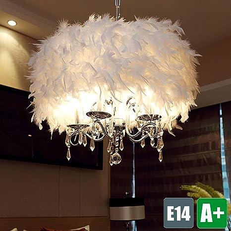 Modern araña, color blanco Muelle pantalla para lámpara de ...