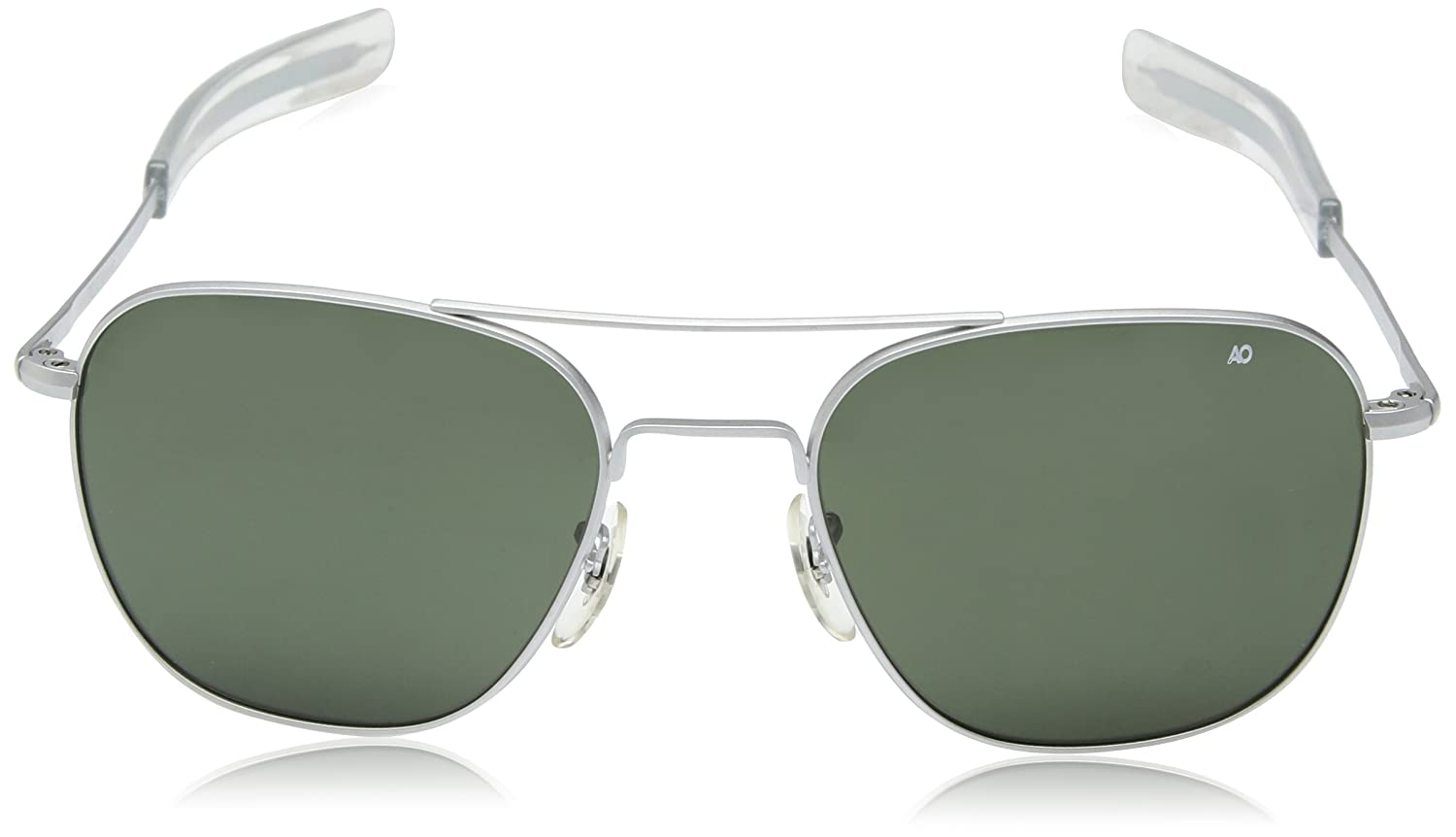 Amazon.com  American Optical Pilot Aviator Sunglasses 57 mm Silver Frame  with Bayonet Temples and True Color Gray Glass Lenses  Sports   Outdoors 38c941cdc55