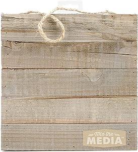 Hampton Art JB0431 Mix The Media Wooden Plank Plaque, 10 by 10-Inch
