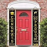 2021 Graduation Door Banners - Graduation Porch Sign Congrats Grad Door Sign So Proud of You Banner Graduation Welcome Hangin