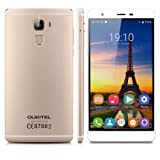 OUKITEL U13 5.5 Inch IPS HD Screen 4G Smartphone Unlocked Android 6.0 MT6753 Octa Core 3G RAM+64G ROM Dual Camera Dual SIM Mobile Phone Fingerprint Multi-Touch Gesture Motion Cellphone(Gold)